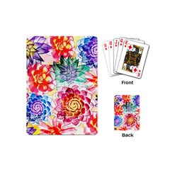 Colorful Succulents Playing Cards (Mini)