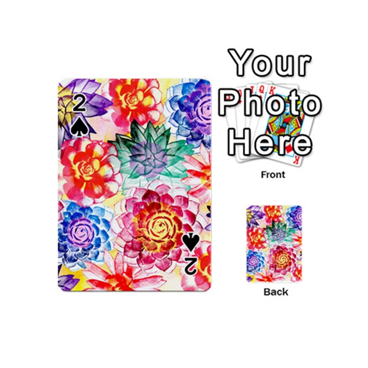 Colorful Succulents Playing Cards 54 (Mini)