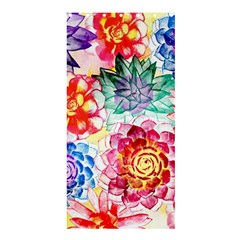 Colorful Succulents Shower Curtain 36  X 72  (stall)
