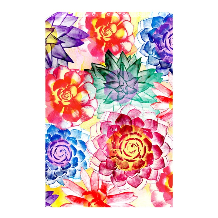 Colorful Succulents Shower Curtain 48  x 72  (Small)