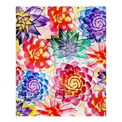 Colorful Succulents Shower Curtain 60  X 72  (medium)