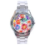 Colorful Succulents Stainless Steel Analogue Watch Front