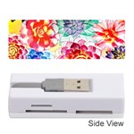 Colorful Succulents Memory Card Reader (Stick)  Front