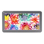Colorful Succulents Memory Card Reader (Mini) Front