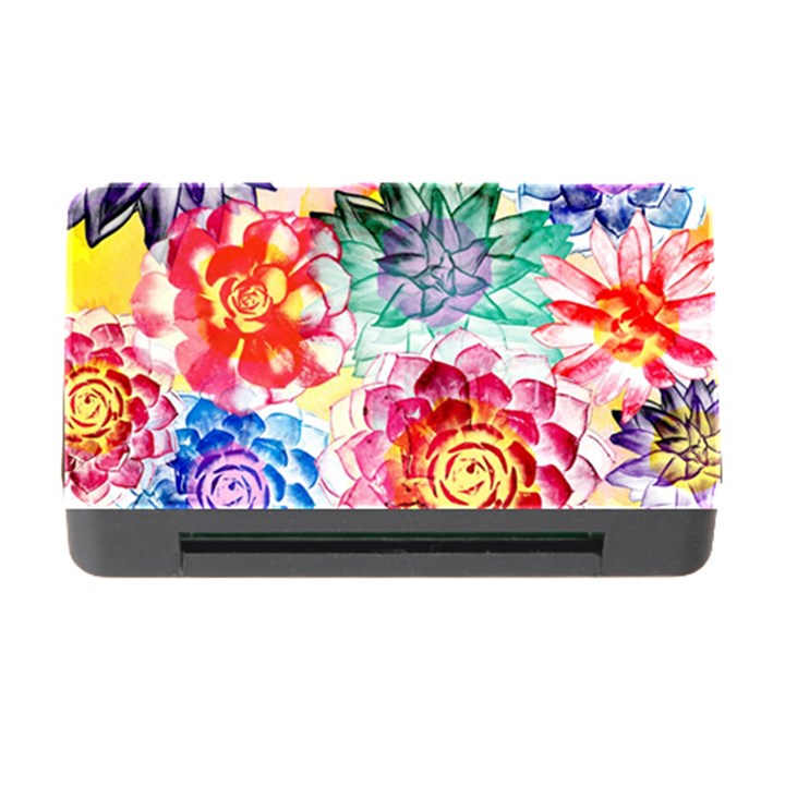Colorful Succulents Memory Card Reader with CF