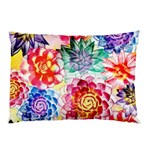 Colorful Succulents Pillow Case (Two Sides) Back