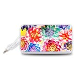 Colorful Succulents Portable Speaker (White)  Front
