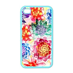 Colorful Succulents Apple Iphone 4 Case (color)