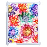 Colorful Succulents Apple iPad 2 Case (White) Front