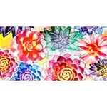Colorful Succulents Happy Birthday 3D Greeting Card (8x4) Back