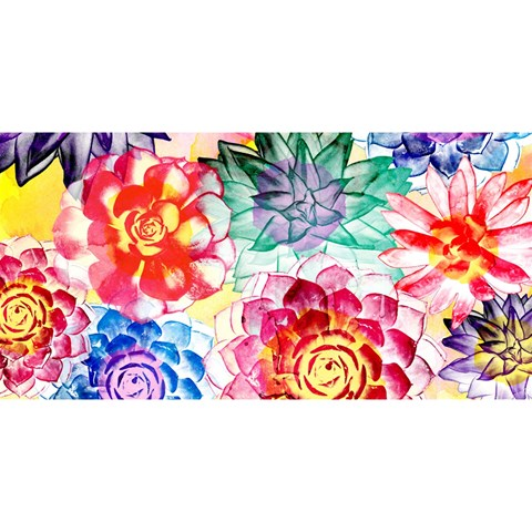 Colorful Succulents YOU ARE INVITED 3D Greeting Card (8x4)