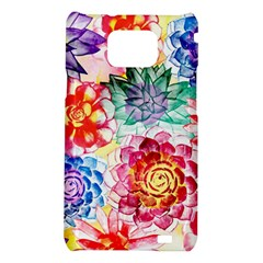 Colorful Succulents Samsung Galaxy S2 i9100 Hardshell Case