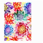 Colorful Succulents Large Garden Flag (Two Sides) Front