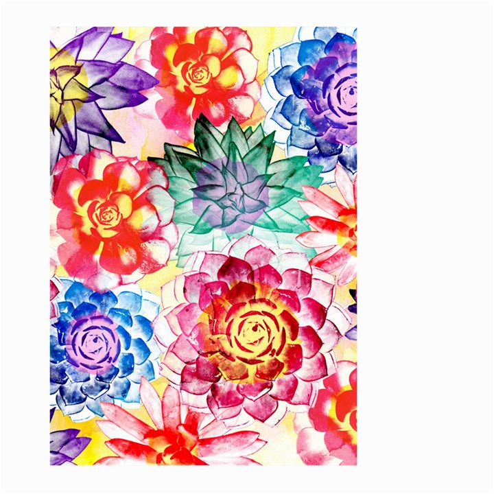 Colorful Succulents Large Garden Flag (Two Sides)