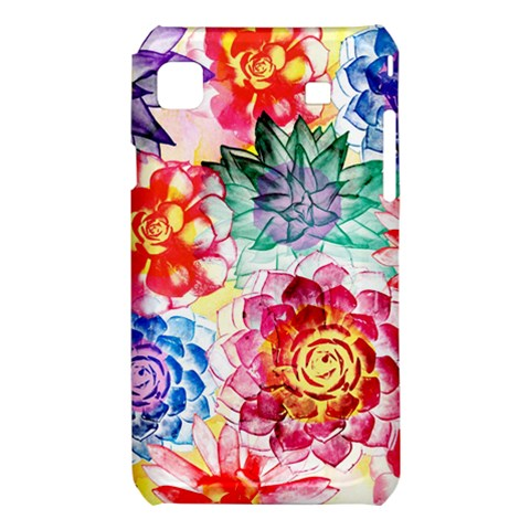 Colorful Succulents Samsung Galaxy S i9008 Hardshell Case
