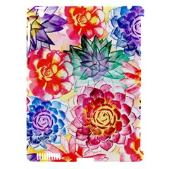 Colorful Succulents Apple iPad 3/4 Hardshell Case (Compatible with Smart Cover)