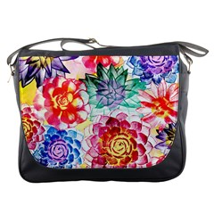 Colorful Succulents Messenger Bags