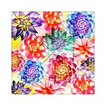 Colorful Succulents Acrylic Tangram Puzzle (6  x 6 ) Front