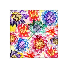 Colorful Succulents Acrylic Tangram Puzzle (4  X 4 )