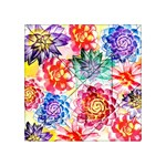 Colorful Succulents Acrylic Tangram Puzzle (4  x 4 ) Front
