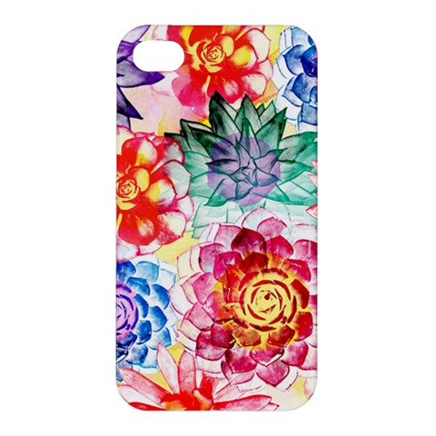Colorful Succulents Apple iPhone 4/4S Premium Hardshell Case