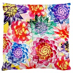 Colorful Succulents Large Cushion Case (Two Sides)