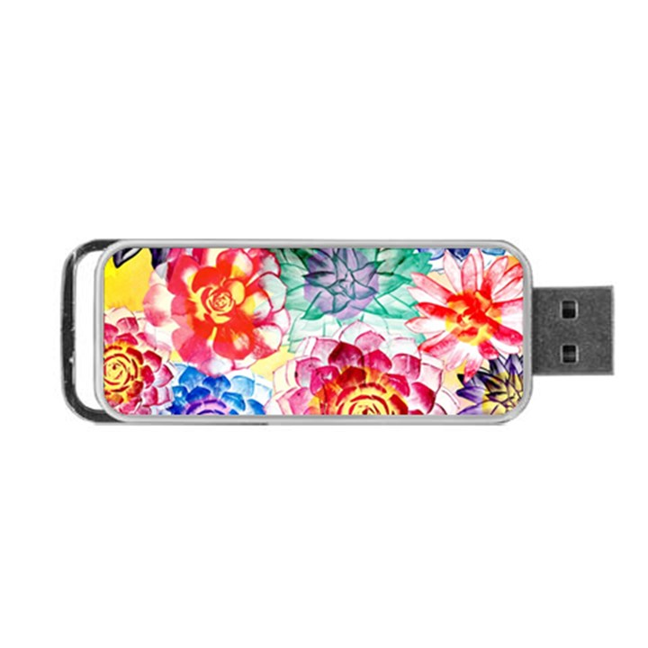 Colorful Succulents Portable USB Flash (One Side)