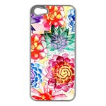 Colorful Succulents Apple iPhone 5 Case (Silver) Front