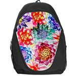 Colorful Succulents Backpack Bag Front
