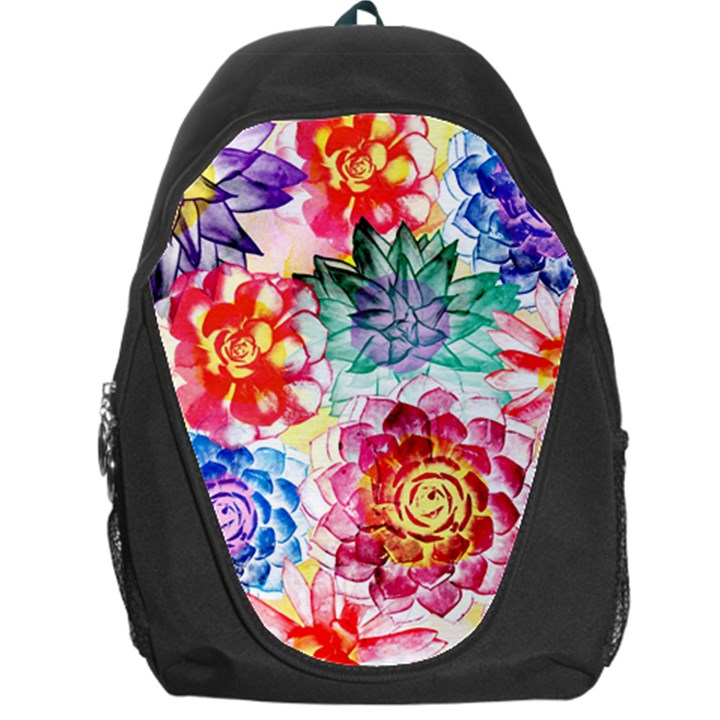 Colorful Succulents Backpack Bag