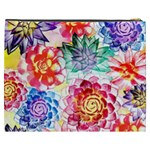 Colorful Succulents Cosmetic Bag (XXXL)  Back