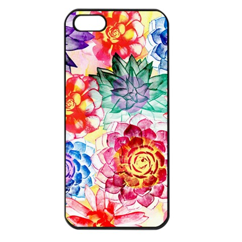 Colorful Succulents Apple iPhone 5 Seamless Case (Black)