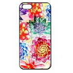 Colorful Succulents Apple iPhone 5 Seamless Case (Black) Front