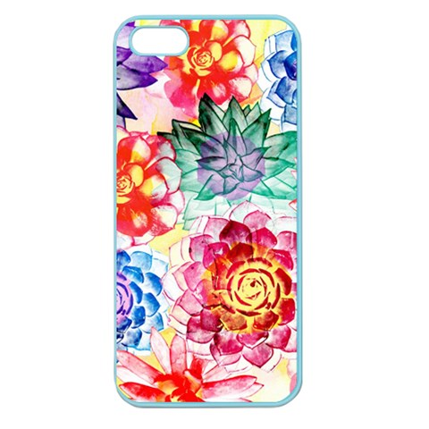 Colorful Succulents Apple Seamless iPhone 5 Case (Color)