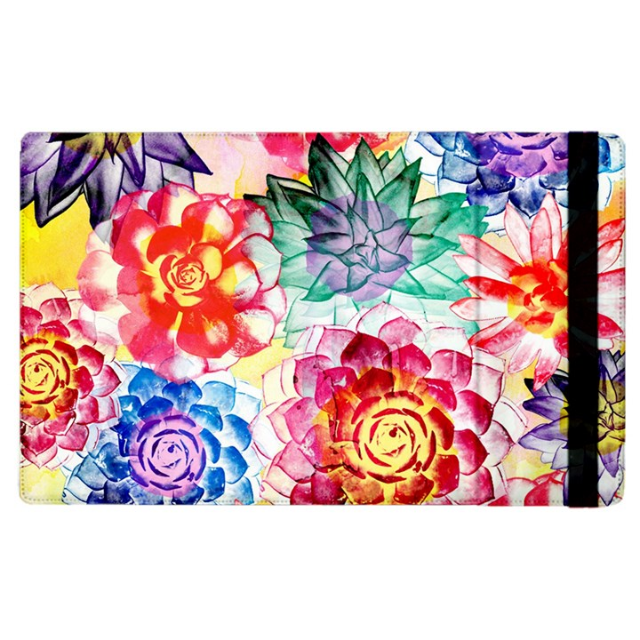 Colorful Succulents Apple iPad 2 Flip Case