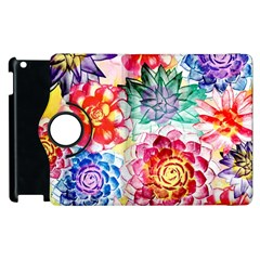 Colorful Succulents Apple Ipad 3/4 Flip 360 Case