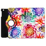 Colorful Succulents Apple iPad Mini Flip 360 Case Front