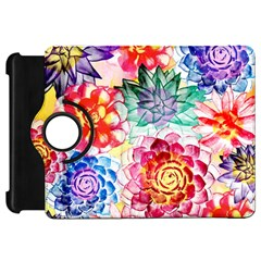 Colorful Succulents Kindle Fire Hd Flip 360 Case