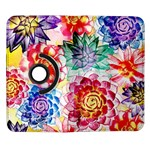Colorful Succulents Samsung Galaxy Note II Flip 360 Case Front