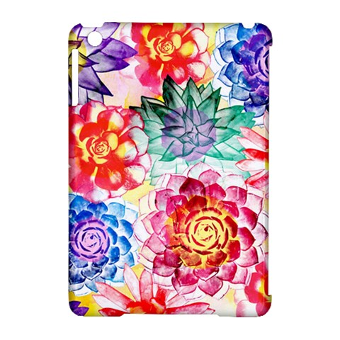 Colorful Succulents Apple iPad Mini Hardshell Case (Compatible with Smart Cover)