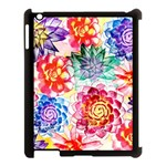 Colorful Succulents Apple iPad 3/4 Case (Black) Front