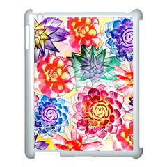 Colorful Succulents Apple Ipad 3/4 Case (white)
