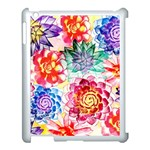 Colorful Succulents Apple iPad 3/4 Case (White) Front