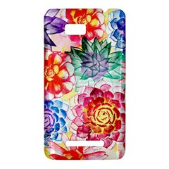 Colorful Succulents HTC One SU T528W Hardshell Case