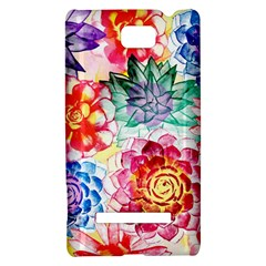 Colorful Succulents HTC 8S Hardshell Case