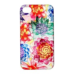 Colorful Succulents Apple iPhone 4/4S Hardshell Case with Stand