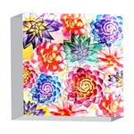 Colorful Succulents 5  x 5  Acrylic Photo Blocks Front