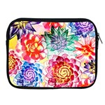 Colorful Succulents Apple iPad 2/3/4 Zipper Cases Front