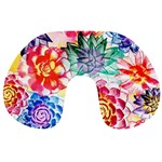 Colorful Succulents Travel Neck Pillows Back