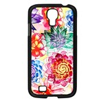 Colorful Succulents Samsung Galaxy S4 I9500/ I9505 Case (Black) Front